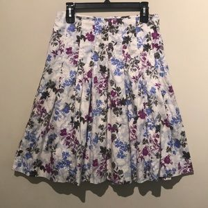 Talbots Summer Floral Cotton Skirt